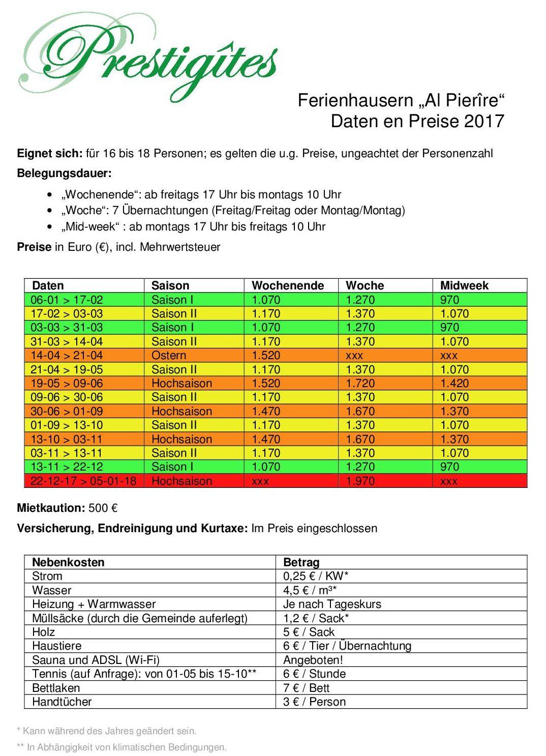 2017 Preise apde